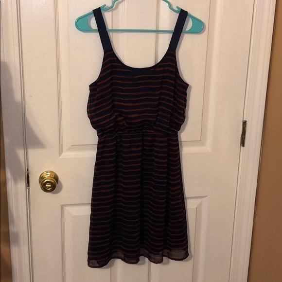 Xhilaration Dresses & Skirts - Blue and red striped dress